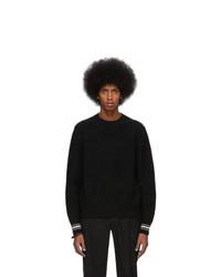 Alexander McQueen Black Wool Textured Skull Sweater