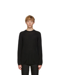 Comme Des Garcons Homme Plus Black Worsted Yarn Sweater