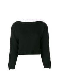 Philosophy di Lorenzo Serafini Boat Neck Volant Sweater