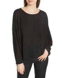 Eileen Fisher Boxy Organic Linen Sweater