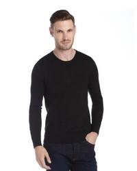 Burberry Brit Black Merino Wool Crewneck Sweater