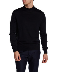 Toscano Crew Neck Rib Knit Sweater