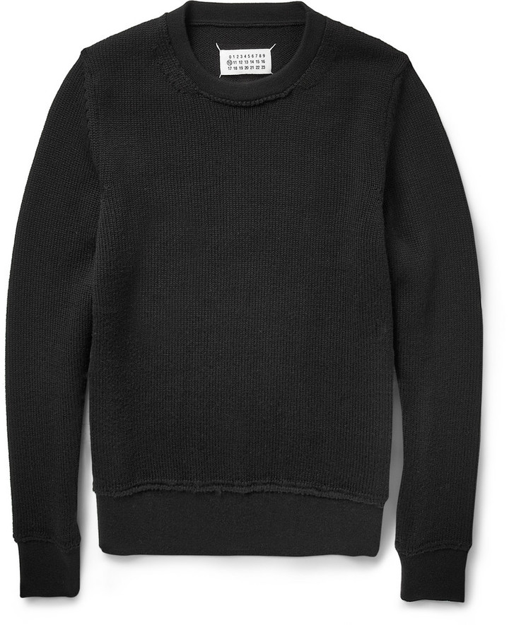 Maison Martin Margiela Crew Neck Wool Sweater | Where to buy & how ...