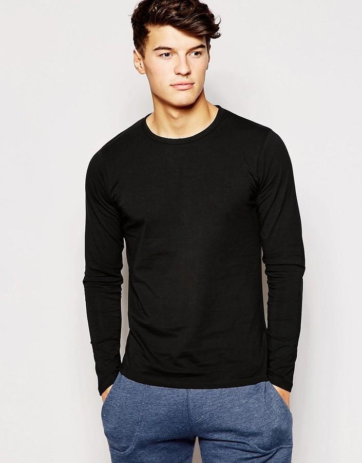 online shop look for best authentic $26, Jack and Jones Jack Jones Long Sleeve T Shirt In Regular Fit