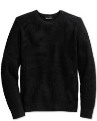 DKNY Jeans Waffle Stitch Merino Wool Sweater