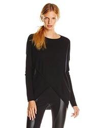 BCBGMAXAZRIA Karsyn Boxy Asymmetric Merino Wool Sweater