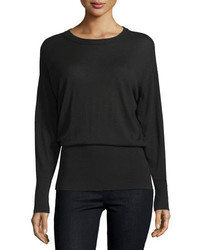 Vince Long Sleeve Merino Rib Hem Sweater