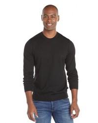 Hugo Boss Medium Beige Virgin Wool Knit Logo Bagritte D Crewneck Sweater
