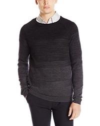 Calvin Klein Merino Blend Parallel Knit Crew Neck Sweater