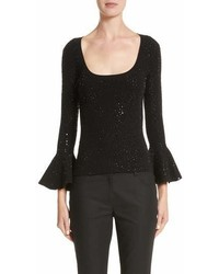 Michael Kors Michl Kors Sequin Bell Sleeve Top