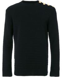 Balmain Military Detail Ribbed Sweater