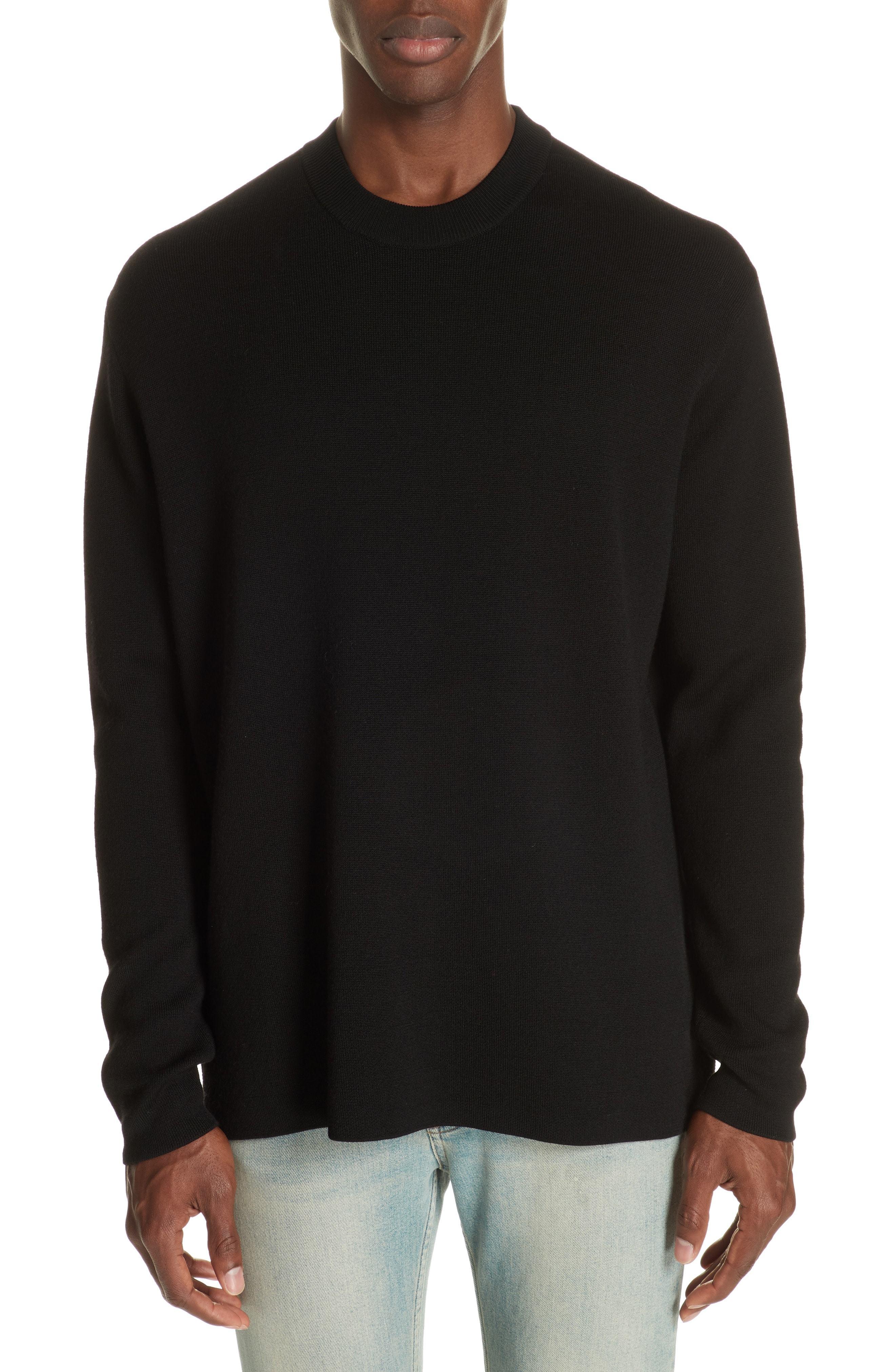 Acne Studios Nicha Wool Cotton Blend Sweater