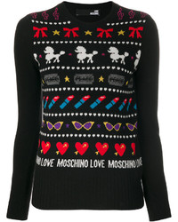 Love Moschino Patterned Jumper