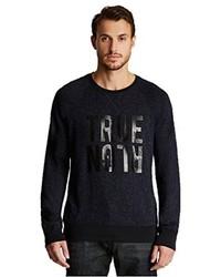 True Religion Raglan Crew Neck Sweater Ace Leopard X Large