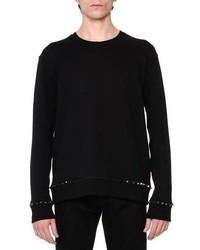 Valentino Rockstud Trim Crewneck Sweatshirt