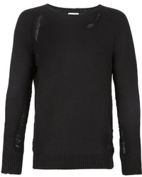 Saint Laurent Distressed Knit Jumper