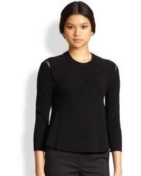 3.1 Phillip Lim Sheer Panel Ribbed Sweater