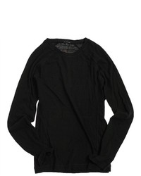Sons of Intrigue Ribbed Knit Sweater Black Xl