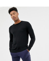 ASOS DESIGN Tall Cotton Jumper In Black