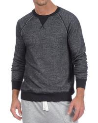 2xist Terry Crewneck Sweatshirt Black