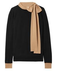 Marni Tie Neck Two Tone Wool Sweater