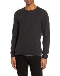 rag & bone Trent Slim Fit Tipped Linen Wool Blend Sweater