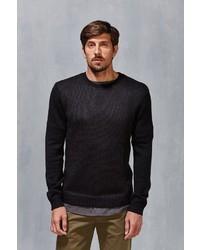Vanishing Elephant Two Tone Textured Sweater
