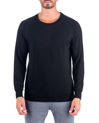 Unsimply Stitched French Terry Relaxed Neck Crew Sweater