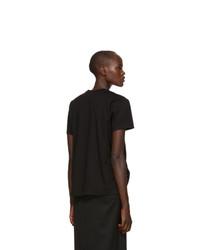 Moncler Genius 6 Moncler Noir Kei Ninomiya Black Lace Up T Shirt