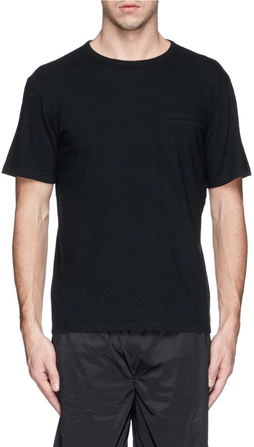 Alexander wang t by mock pocket t shirt where to buy for Mock crew neck shirts
