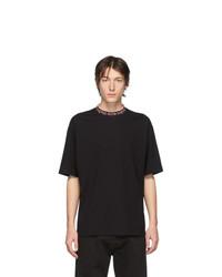 Acne Studios Black And Pink Logo Rib Extorr T Shirt