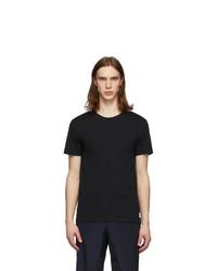 Paul Smith Black Contrast Stitch T Shirt