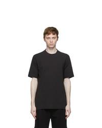 Z Zegna Black Cotton Crepe T Shirt