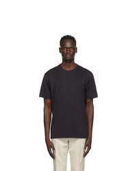 Z Zegna Black Cotton Jersey Oversized T Shirt