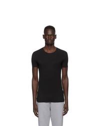 Ermenegildo Zegna Black Crewneck Seamless T Shirt
