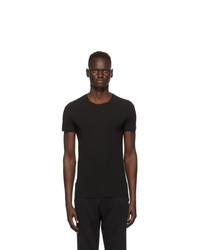 Ermenegildo Zegna Black Crewneck T Shirt