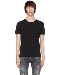 Balmain Black Crewneck T Shirt