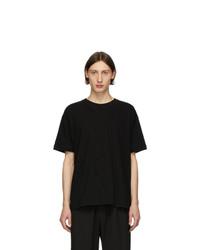 Isabel Benenato Black Detailed Front T Shirt