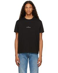 Maison Margiela Black Distorted Logo T Shirt