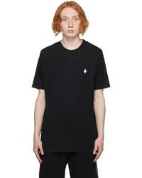 Marcelo Burlon County of Milan Black Embroidered Cross T Shirt