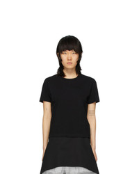 MM6 MAISON MARGIELA Black Fitted T Shirt