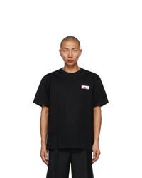 Wooyoungmi Black Floral Pocket T Shirt