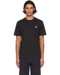 Stone Island Black Gart Dyed Logo Patch T Shirt