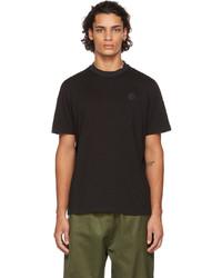 Moncler Black Layered Collar T Shirt