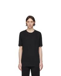 Z Zegna Black Linen T Shirt
