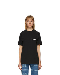 Vetements Black Logo Front Back T Shirt