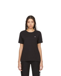 Champion Reverse Weave Black Logo T Shirt