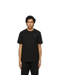 Moncler Black Maglia Logo T Shirt