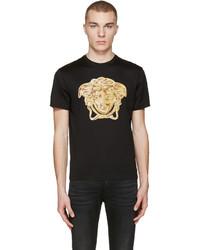Versace Black Medusa Statue T Shirt