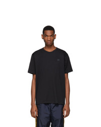 Acne Studios Black Nash Face T Shirt